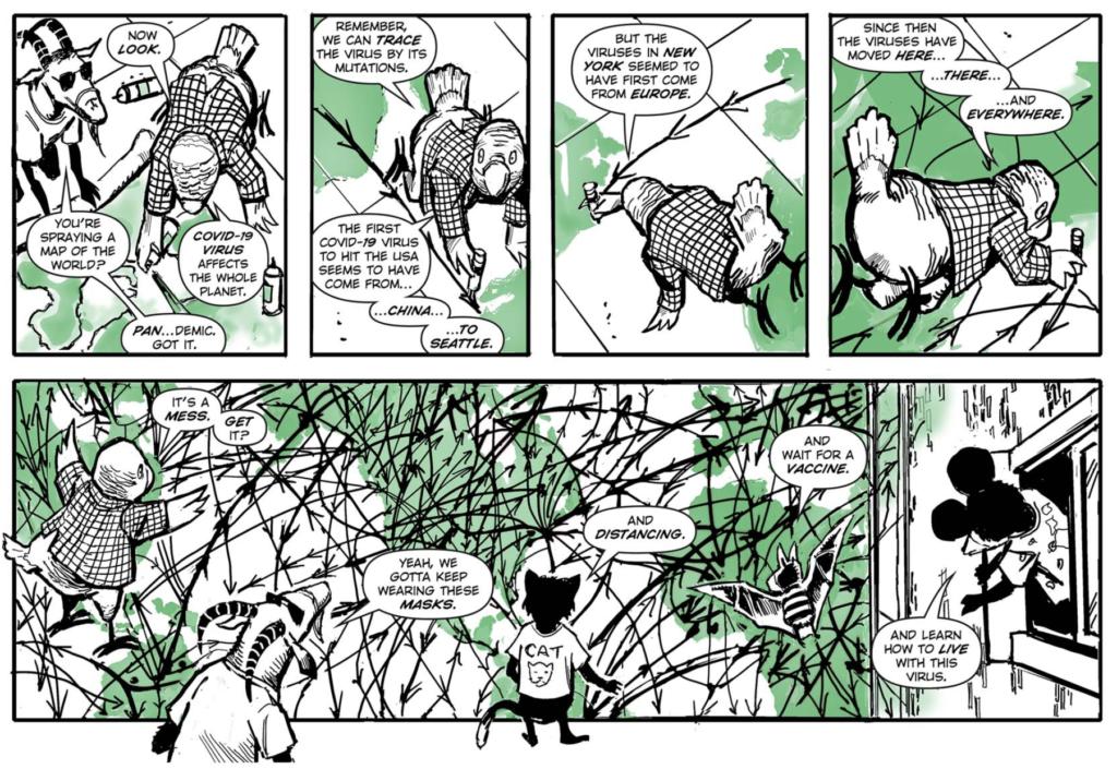 Comic book panels